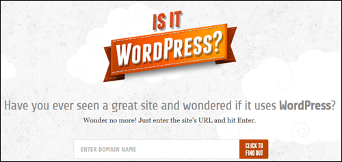 Is It WordPress? - WordPress Checker